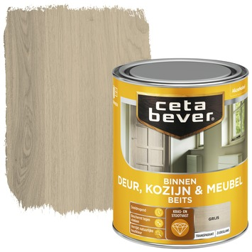 Cetabever deur, kozijn & meubelbeits transparant grijs zijdeglans 750 ml