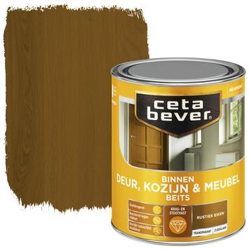 Cetabever deur, kozijn & meubelbeits transparant rustiek eiken zijdeglans 750 ml