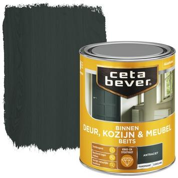 Cetabever deur, kozijn & meubelbeits transparant antraciet zijdeglans 750 ml