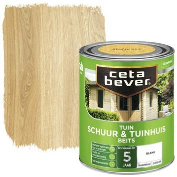Cetabever schuur & tuinhuis beits transparant blank zijdeglans 750 ml