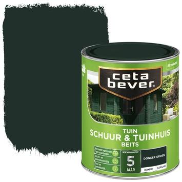 Cetabever schuur & tuinhuis beits dekkend donkergroen zijdeglans 750 ml