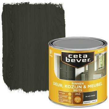 Cetabever deur, kozijn & meubelbeits transparant black wash zijdeglans 250 ml