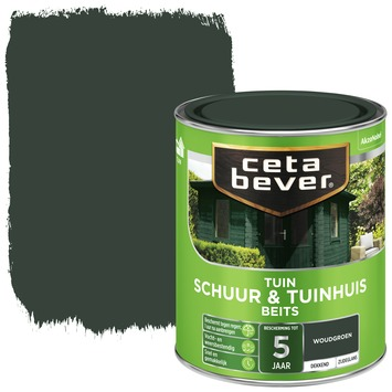 Cetabever schuur & tuinhuis beits dekkend woudgroen zijdeglans 750 ml