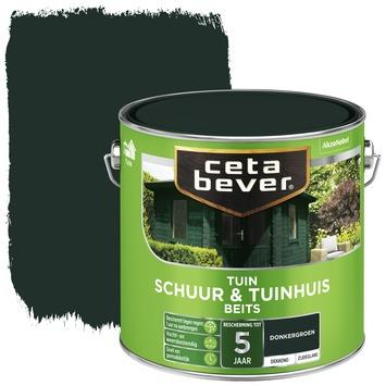 Cetabever schuur & tuinhuis beits dekkend donkergroen zijdeglans 2,5 liter