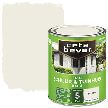 Cetabever schuur & tuinhuis beits dekkend RAL 9010 zijdeglans 750 ml