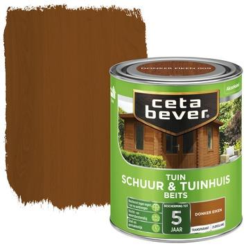 Cetabever schuur & tuinhuis beits transparant donker eiken zijdeglans 750 ml
