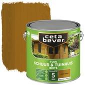 Cetabever schuur & tuinhuis beits transparant licht eiken zijdeglans 2,5 liter