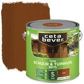 Cetabever schuur & tuinhuis beits transparant teak zijdeglans 2,5 liter