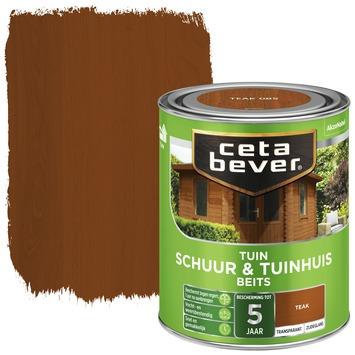 Cetabever schuur & tuinhuis beits transparant teak zijdeglans 750 ml