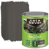 Cetabever tuinhout beits transparant antraciet zijdeglans 750 ml