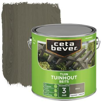Cetabever tuinhout beits transparant grijs zijdeglans 2,5 liter