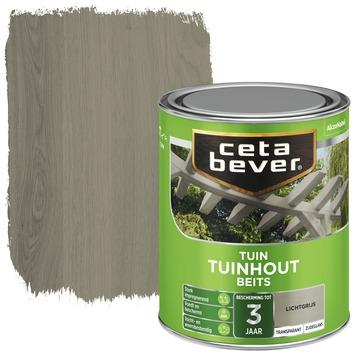 Cetabever tuinhout beits transparant lichtgrijs zijdeglans 750 ml
