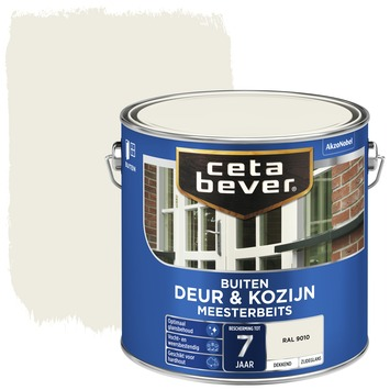 Cetabever deur & kozijn meesterbeits dekkend zijdeglans RAL 9010 2,5 liter