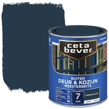 Cetabever deur & kozijn meesterbeits dekkend zijdeglans midden blauw 750 ml