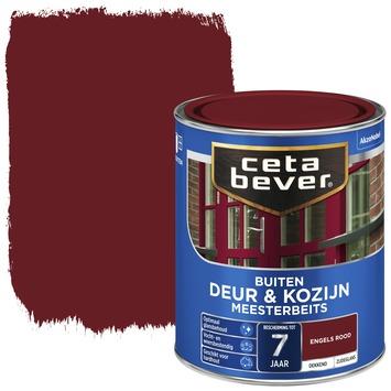 Cetabever deur & kozijn meesterbeits dekkend zijdeglans engels rood 750 ml