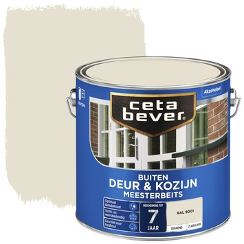 Cetabever deur & kozijn meesterbeits dekkend zijdeglans RAL 9001 2,5 liter