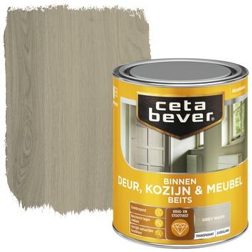 Cetabever binnen deur, kozijn & meubelbeits transparant grey wash zijdeglans 750 ml