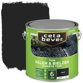 Cetabever palen & bielzen zwarte teer  dekkend mat 2,5 L