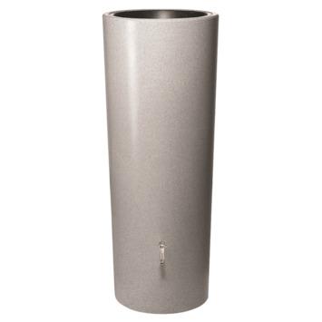Garantia Regenton met Plantenbak Kunststof Zilver 350 Liter