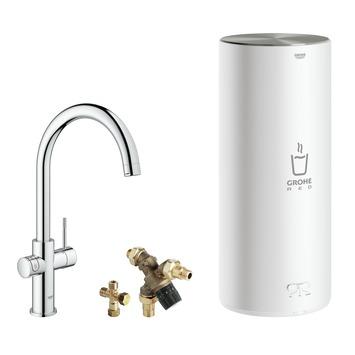 Grohe Red Keukenkraan met C-uitloop en Kokend Water Boiler