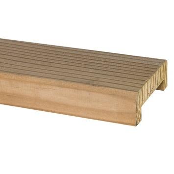 Geschaafde afdeklat met sponning 2,8x8,5x180cm blank