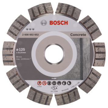 Bosch Prof Diamantzaagblad 125mm beton