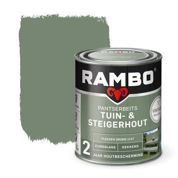 Rambo vintage pantserbeits tuin- en steigerhout dekkend flessen groen zijdeglans 750 ml