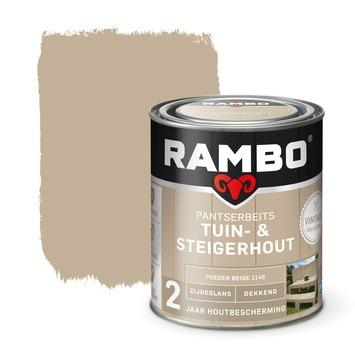 Rambo vintage pantserbeits tuin- en steigerhout dekkend poeder beige zijdeglans 750 ml