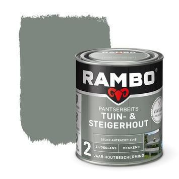 Rambo vintage pantserbeits tuin- en steigerhout dekkend stoer antraciet zijdeglans 750 ml