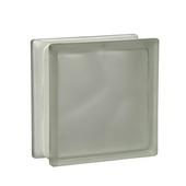 Glazen bouwsteen mat wolk wit 19x19 cm