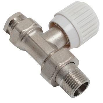 """GAMMA radiatorkraan recht chroom knelaansluiting buitendraad 1/2""""x15 mm"""