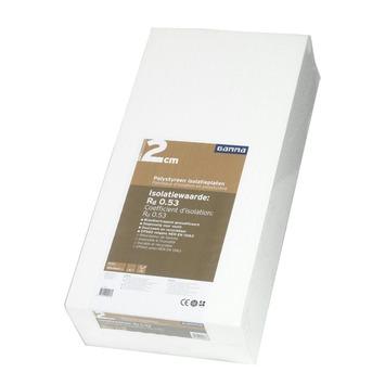 GAMMA isolatieplaat polystyreen EPS 100x50x2 cm 12 platen