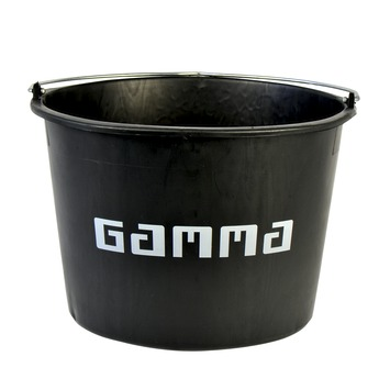 GAMMA bouwemmer zwart 20 liter
