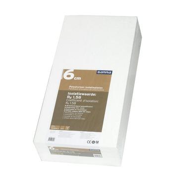 GAMMA isolatieplaat polystyreen EPS 100x50x6 cm 4 platen