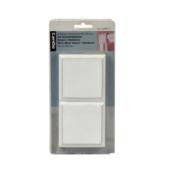 CanDo Square Residence decoblok MDF wit gegrond 8,5x8,5 cm 2 stuks