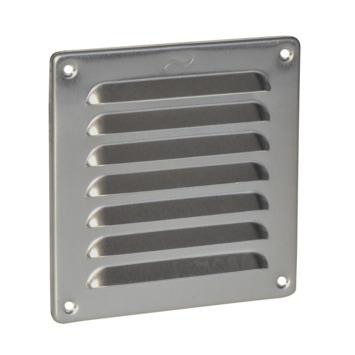 IVC Air schoepenrooster aluminium zilver 15,5x15,5 cm