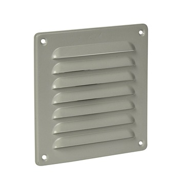 IVC Air schoepenrooster aluminium wit 15,5x15,5 cm