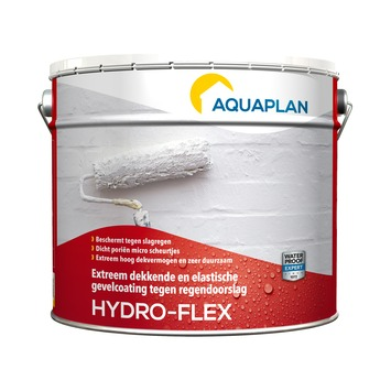 Aquaplan Hydro-flex buitenmuurcoating wit 10 liter