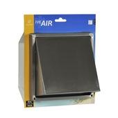 IVC Air overdrukrooster met kap RVS Ø 125 mm