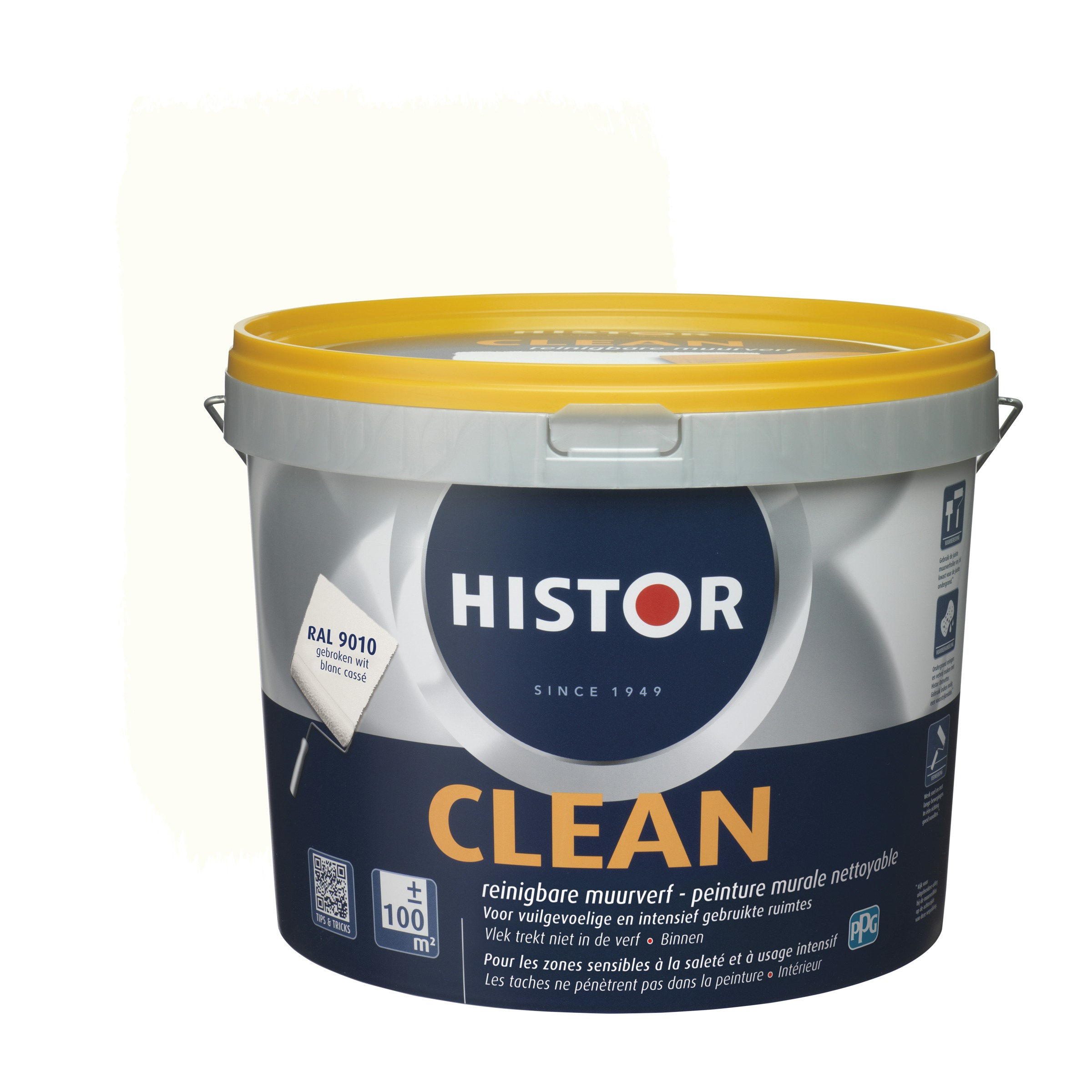 Histor latex Clean RAL 9010 10L