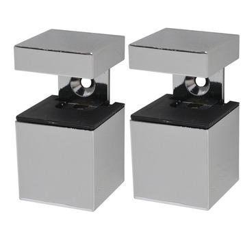 Plankdrager clip cube mini chroom