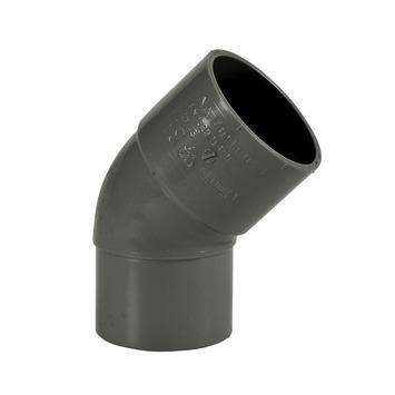 Martens bocht 45° PVC grijs 1x lijmverbinding 40x40 mm
