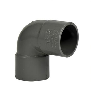 Martens bocht 90° PVC grijs 2x lijmverbinding 32x32 mm