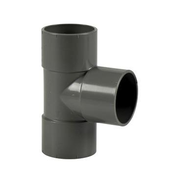Martens T-stuk PVC grijs 3x lijmverbinding 40 mm