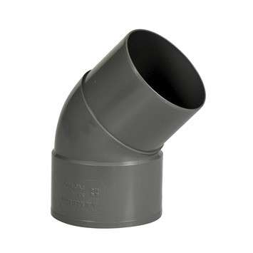 Martens bocht 45° PVC grijs verjongd 80x80 mm