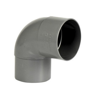 Martens bocht 90° PVC grijs mof/verjongd 80x80 mm