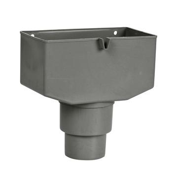Martens vergaarbak + overloop grijs 80x100 mm