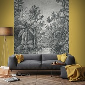 Fotobehang Jungle zwart-wit 105411
