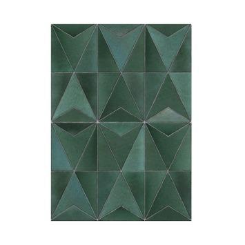 Fotobehang Tegels Jade groen (105413)