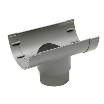 Martens uitloop 70/80 mm t.b.v. mastgoot grijs 100 mm